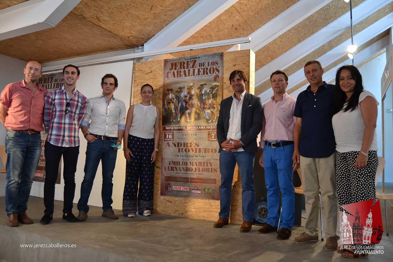 El rejoneador Andrés Romero y los novilleros Emilio Martín y Fernando Flores protagonizarán una novillada mixta el 16 de julio en Jerez de los Caballeros