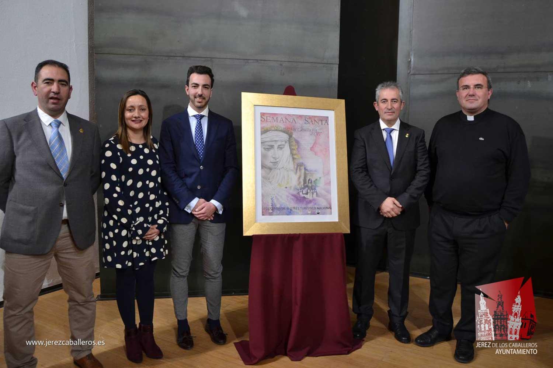 Un magnífico cartel del ilustrador José Tomás Pérez Indiano anuncia la Semana Santa de Jerez de los Caballeros 2017