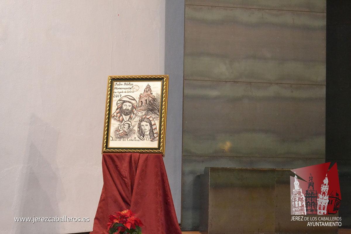 """El presidente de la Diputación de Badajoz destaca el """"complemento perfecto"""" que representa el Belén bíblico 'Santa Ángela' para una ciudad como Jerez de los Caballeros"""