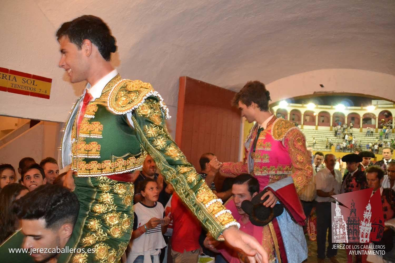 Triunfal novillada de El Freixo en Jerez con Rivero y León a hombros