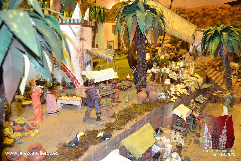 El Belén bíblico y monumental 'Santa Ángela', de nuevo referente y reclamo turístico de la Navidad jerezana