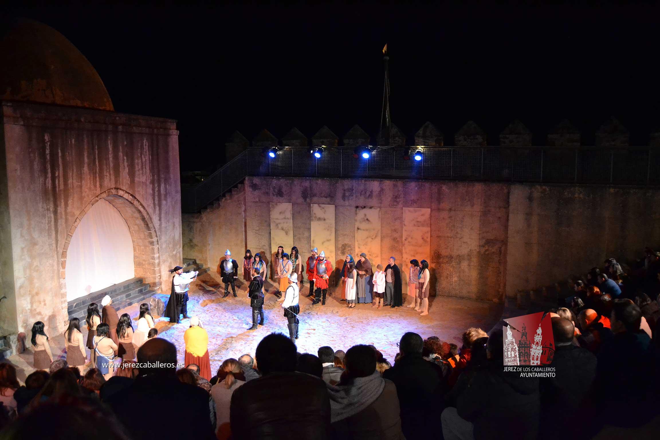La representación teatral  'Balboa, la llave de la última frontera' acercó la historia del descubridor del pacifico a los jerezanos