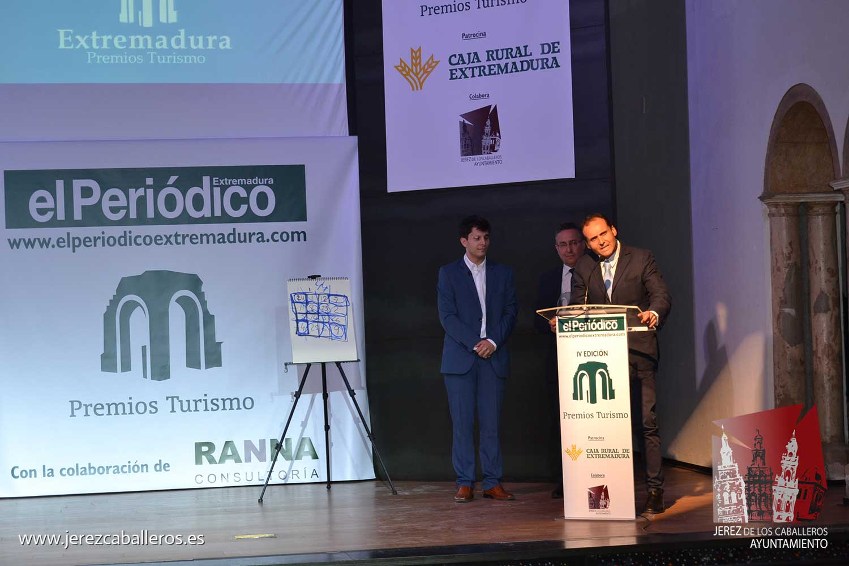 """Virginia Borrallo presenta Jerez como destino turístico """"de primer orden"""" en la región, durante la gala de los Premios de Turismo del Periódico Extremadura"""