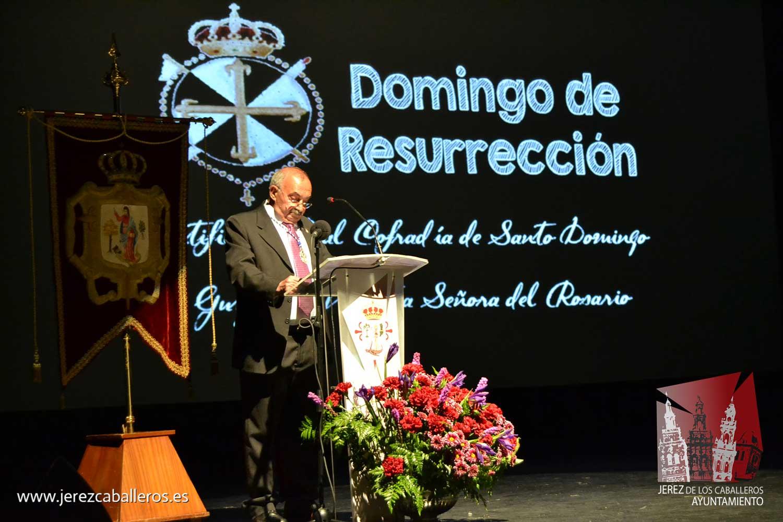 Miguel Gil del Rio transmitió en su pregón sus vivencias de la Semana Santa de la mano del niño que un día fue y que soñaba con ser cofrade