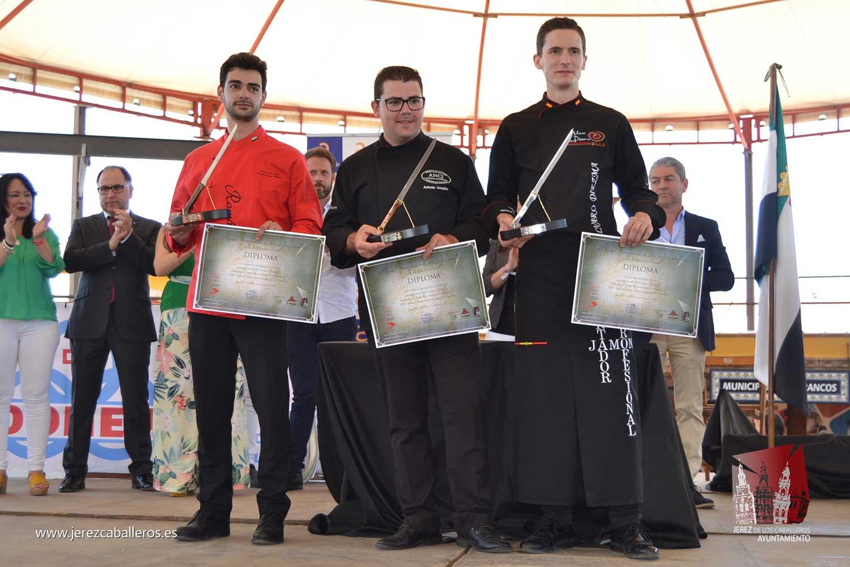 Antonio González Cardeno, de Cumbres Mayores (Huelva), ganador del XII Concurso internacional de Cortadores del XXX Salón del Jamón Ibérico