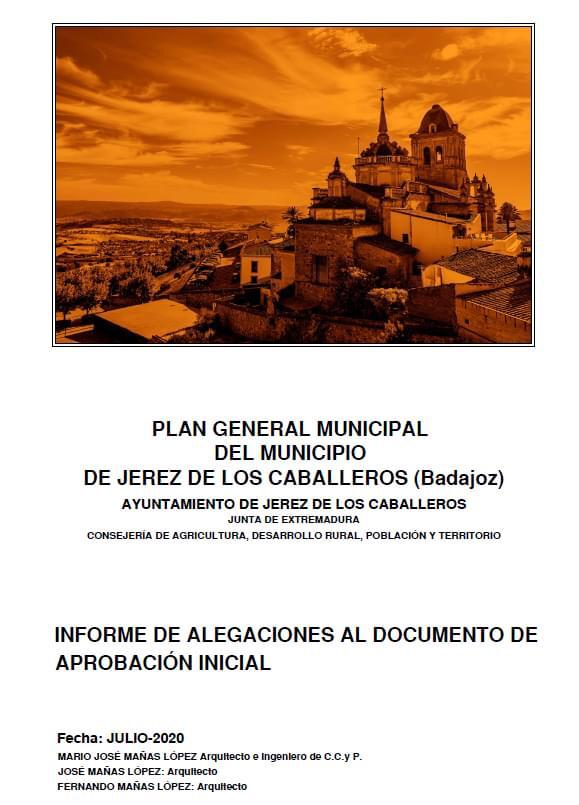 Plan General Municipal Jerez de los Caballeros