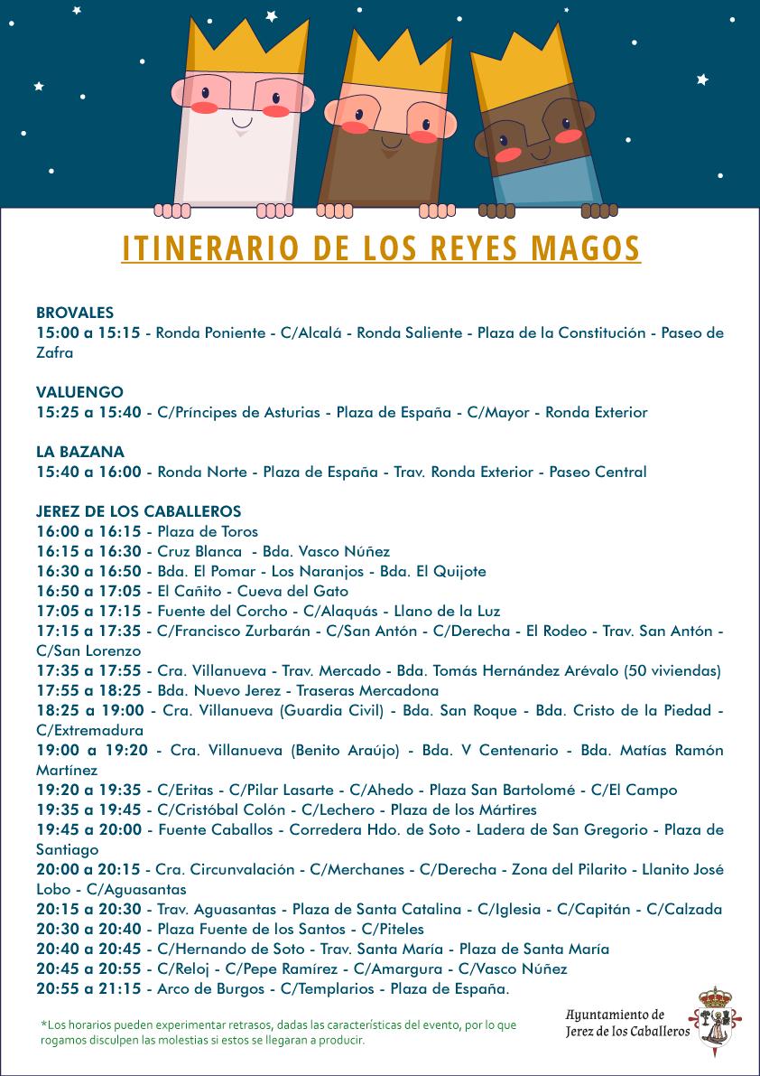 Itinerario reyes Magos